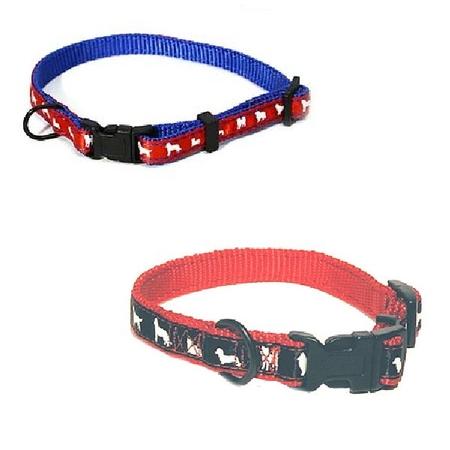 Halsband nylon hundmotiv