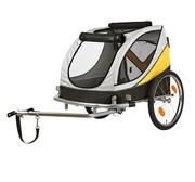 Cykelvagn grå/svart/gul