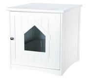 Hundkoja inomhus med dörr, 49 × 51 × 51 cm, vit