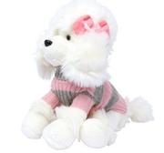 Stickad pullover rosa/grå