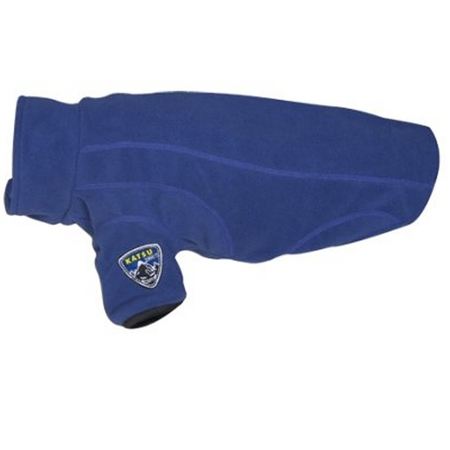 Blå fleecetäcke