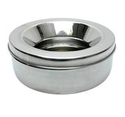 Rostfri skål med lock Non Spill
