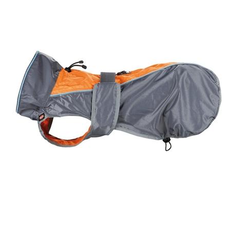 Solid regntäcke grå/orange